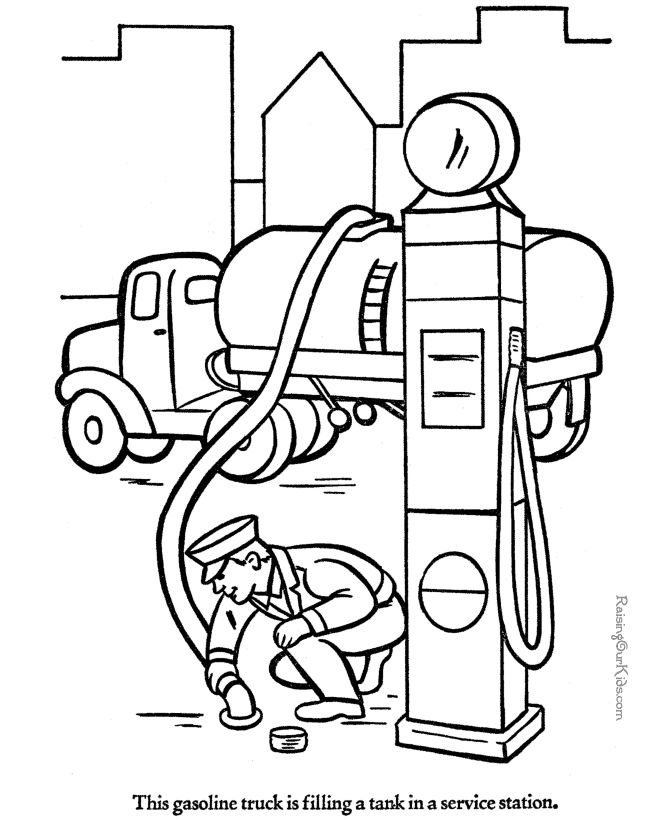 Gas Truck Coloring Pages