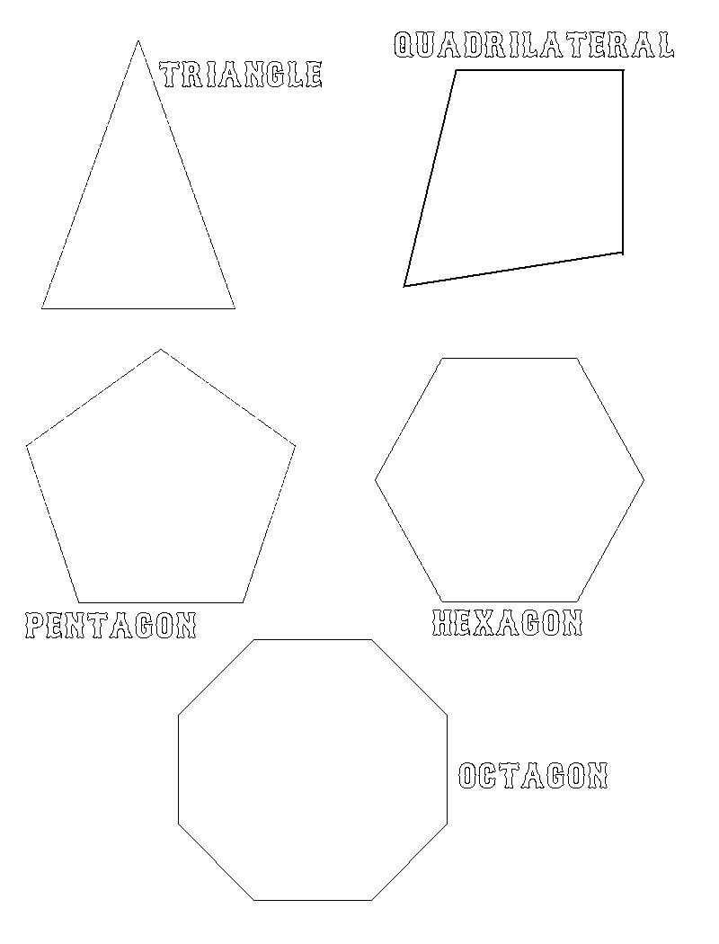 Geometric Shape Coloring Pages