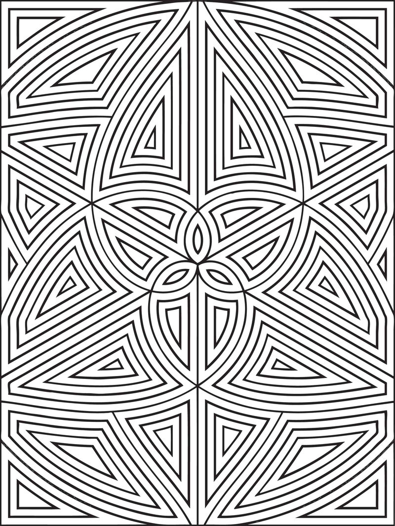 Geometric Shapes Coloring Pages 001