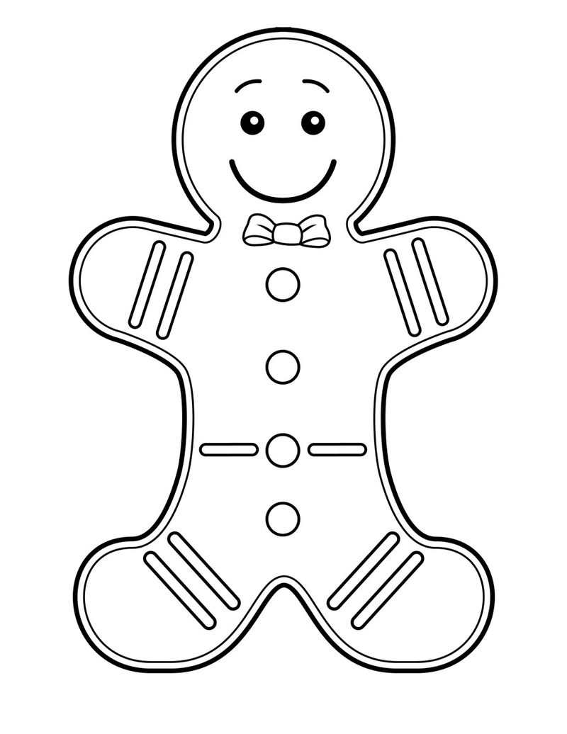 Gingerbread Man Coloring Pages For Preschoolers