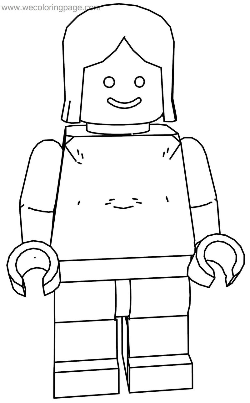 Girl woman lego coloring page