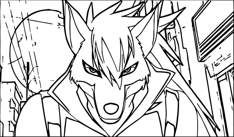 Glitter Force Wolf Coloring Page