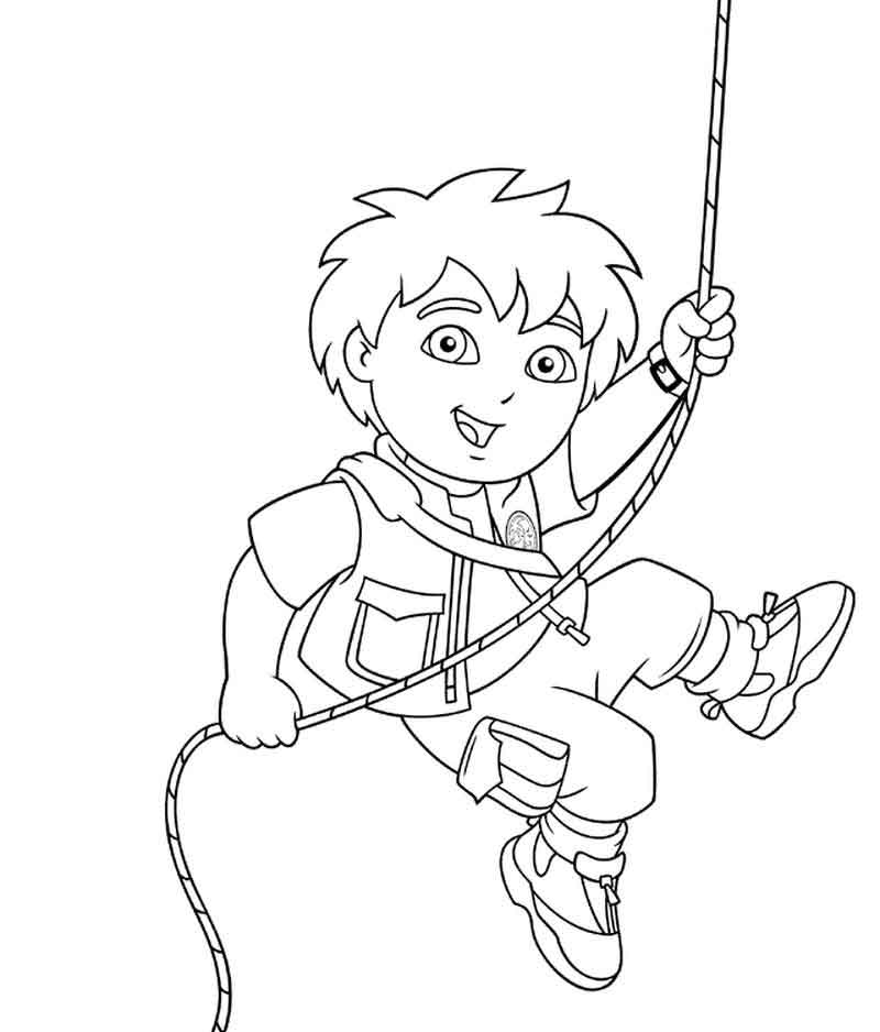 Go Diego Go Coloring Pages Printable