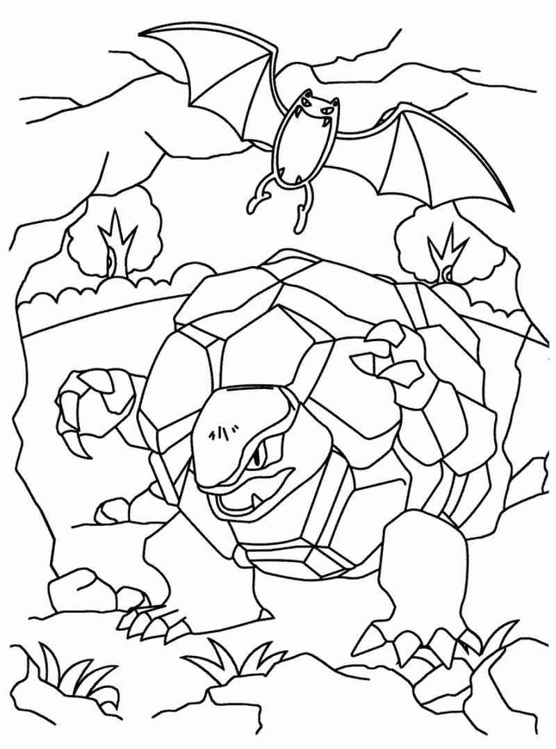 Golem And Golbat Pokemon Coloring Pages