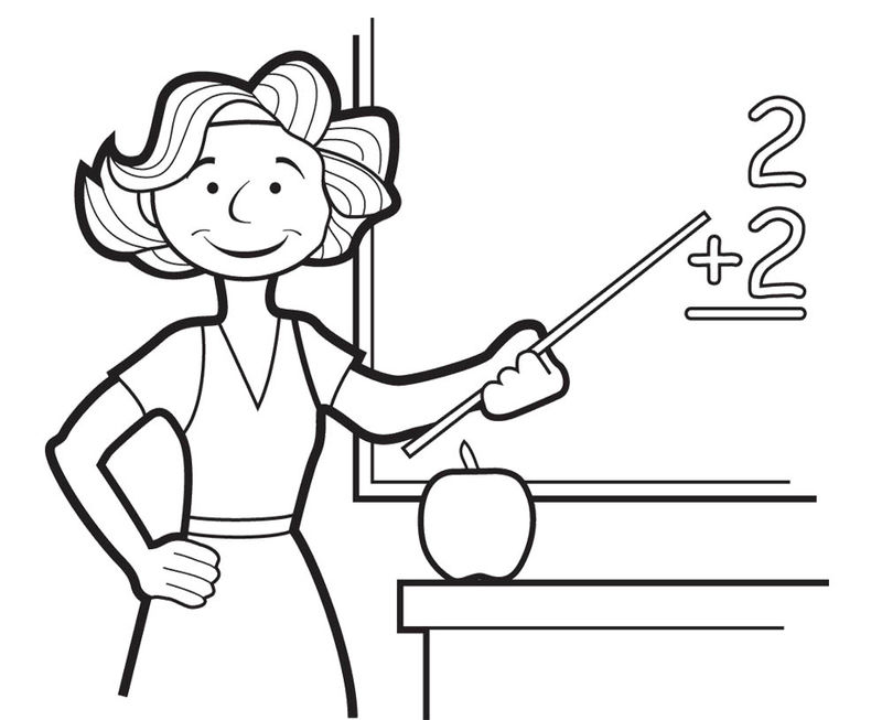 Good Teacher Coloring Pages