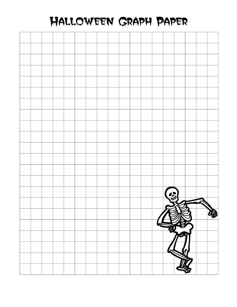 Graph Paper Worksheets Halloween