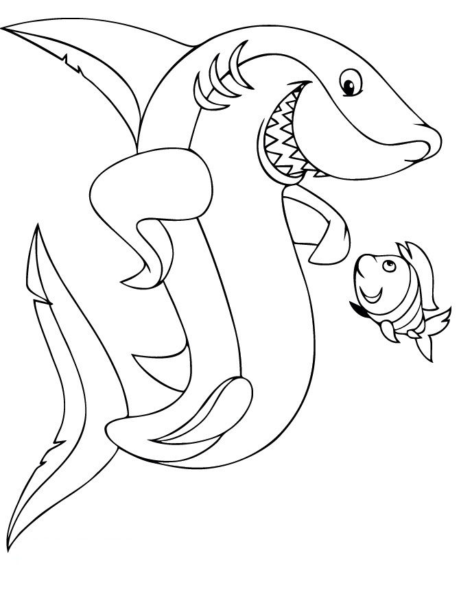 Great White Shark Coloring Page