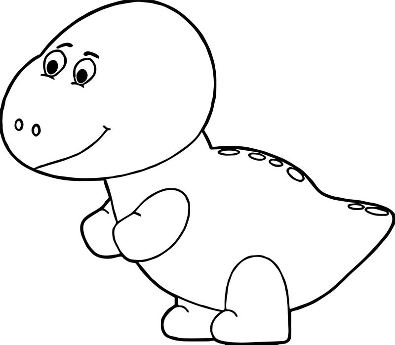 Green Baby Dinosaur Coloring Page