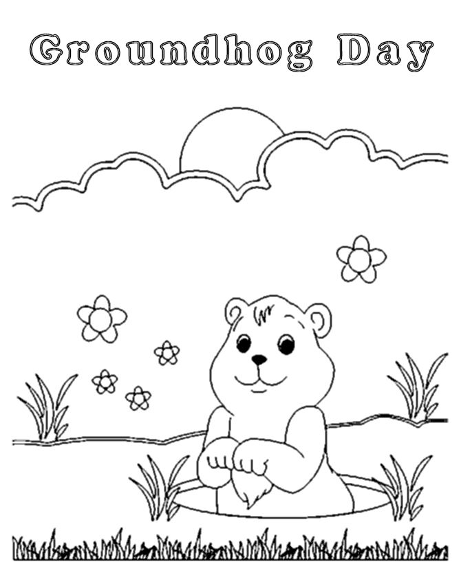 Groundhog Day Coloring Pages 1