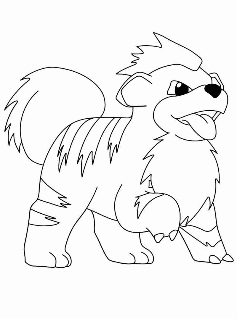 Growlith Pokemon Coloring Pages