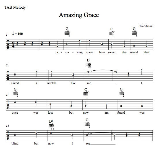 Guitar Chords For Amazing Grace 1 002