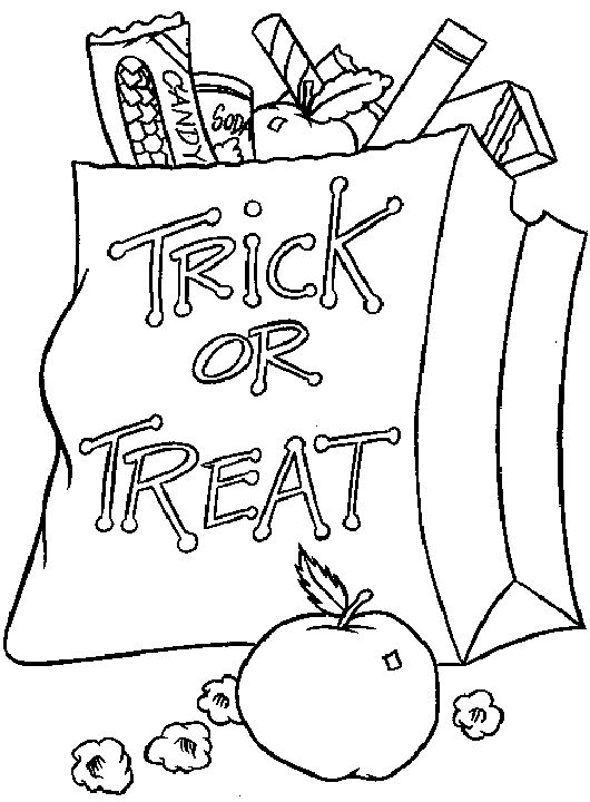 Halloween Coloring Page Trick Or Treat 001