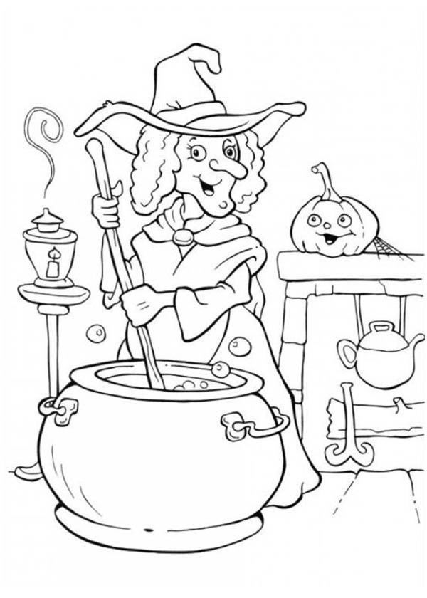 Halloween Coloring Pages Witch