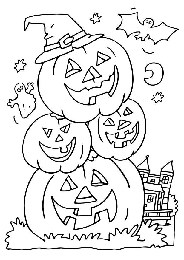 Halloween Colouring Pictures