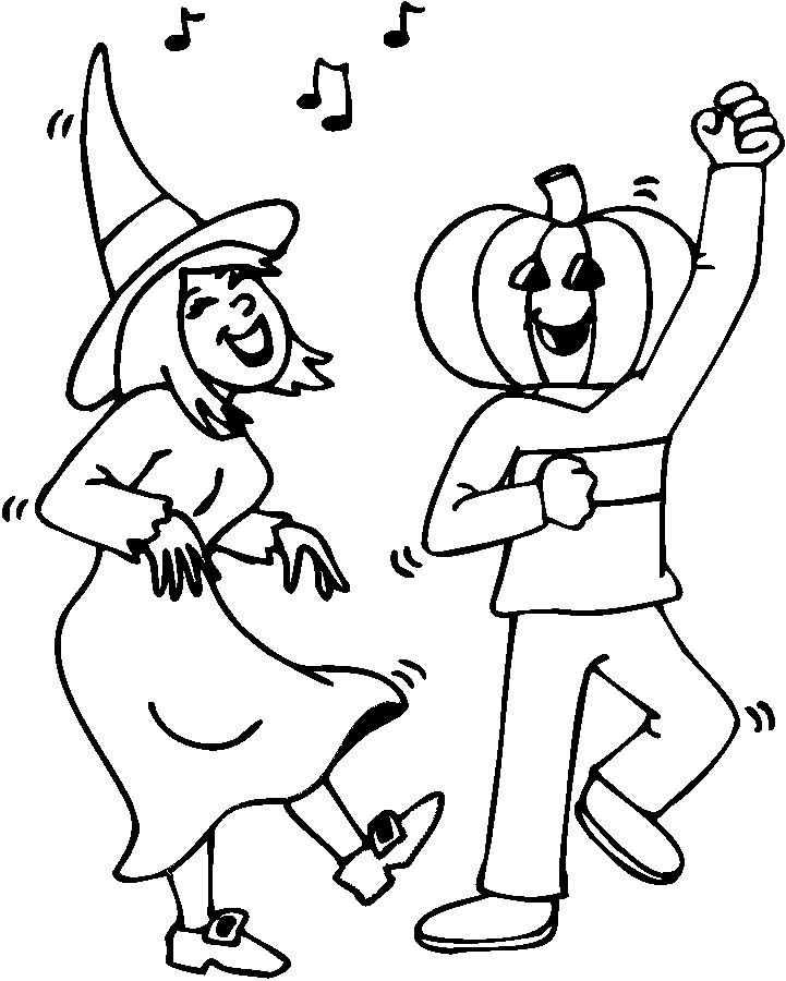 Halloween Party Coloring Sheets