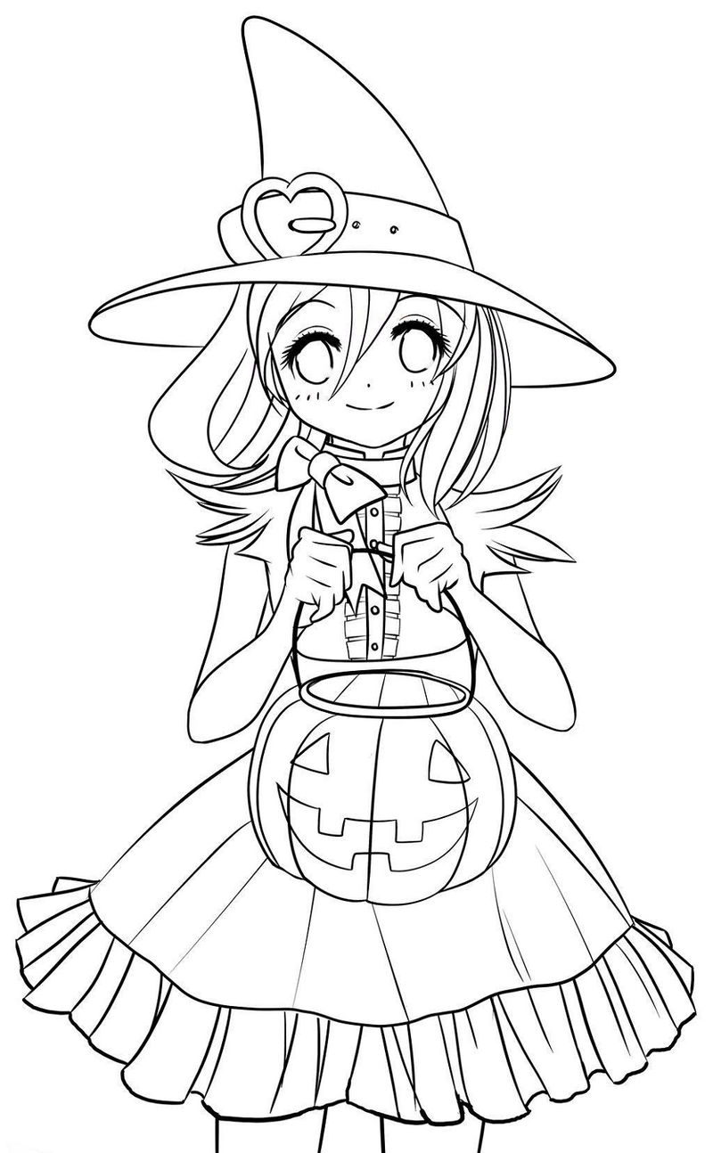 Halloween Printable Coloring Pages Cute 1 001