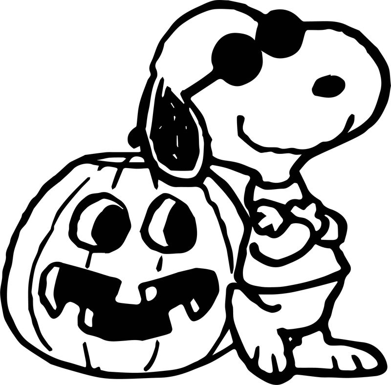 Halloween Snoopy Coloring Page