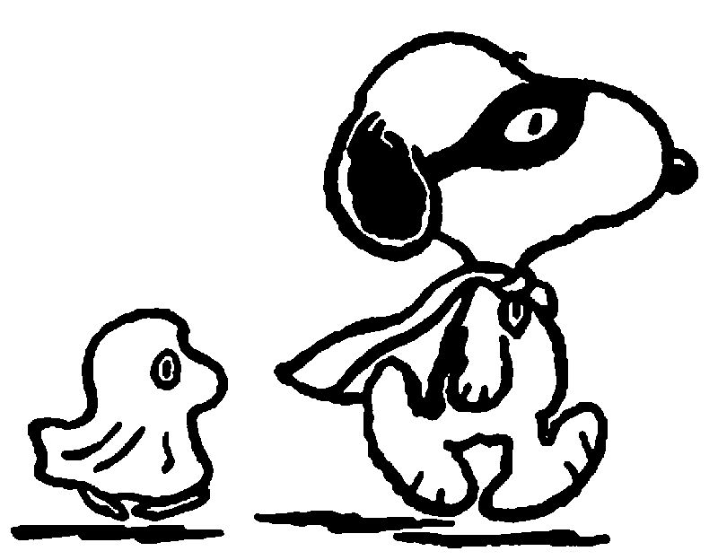 Halloween Snoopy Coloring Page 1