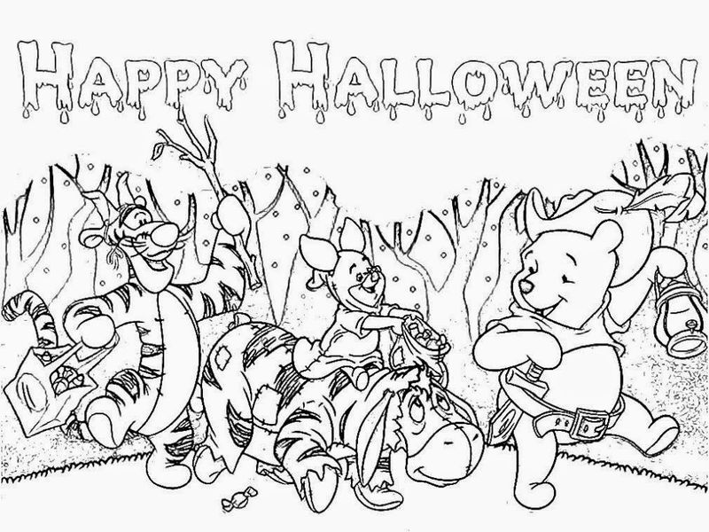 Halloween Winnie The Pooh Coloring Pages