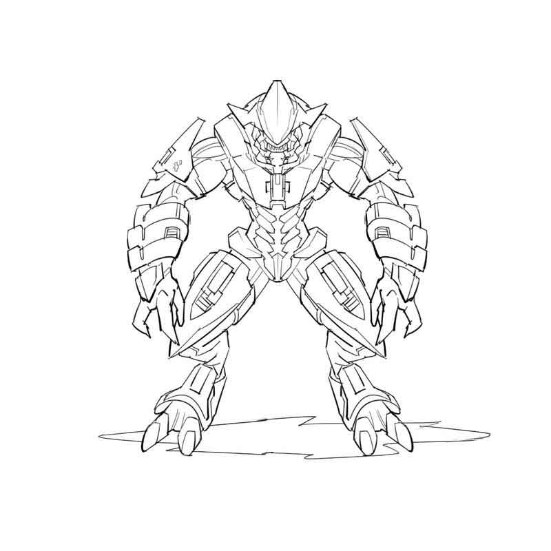 Halo Coloring Pages Pictures