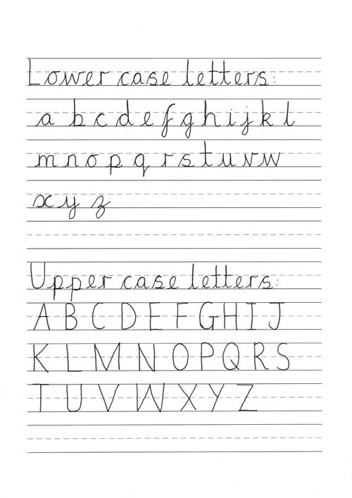Handwriting Sheets For Primary School 2 001