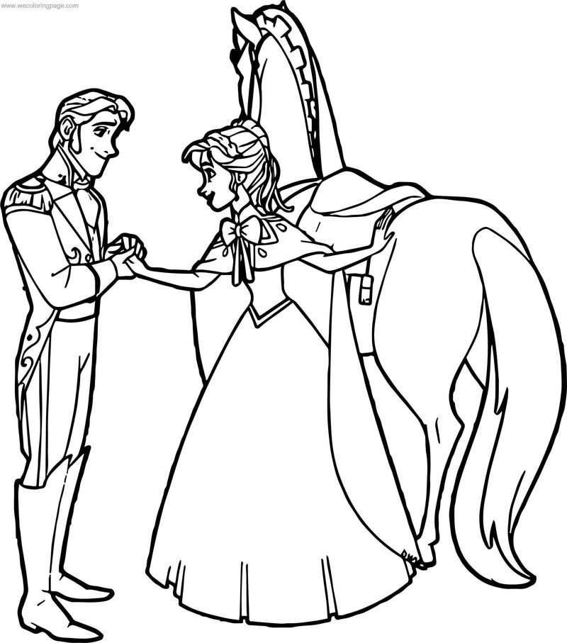 Hans Anna Horse Coloring Page