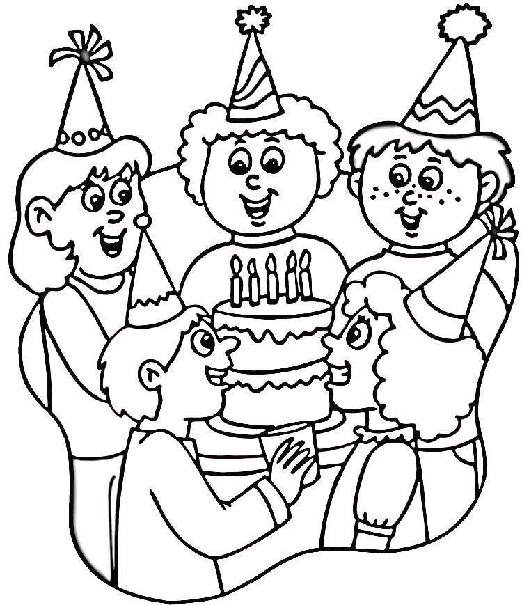 Happy Birthday Coloring Pages Printable