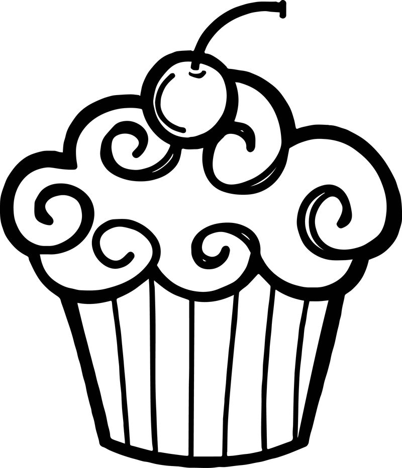 Happy Birthday Cupcake Clip Art And Nice Photo Download Free Share Coloring Page