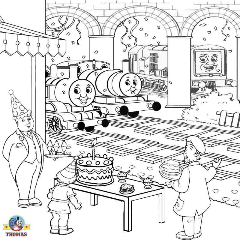 Happy Birthday Thomas Coloring Page