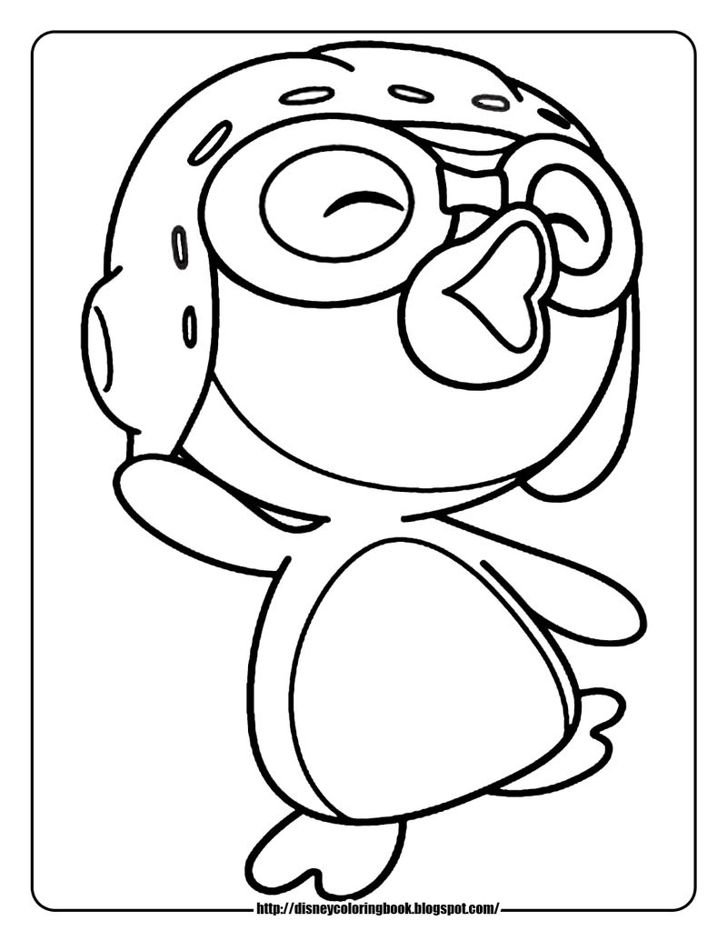 Happy Dancing Penguin Coloring Pages