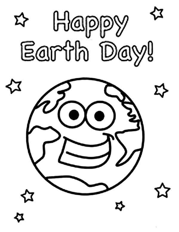 Happy Earth Day Coloring Pages Free