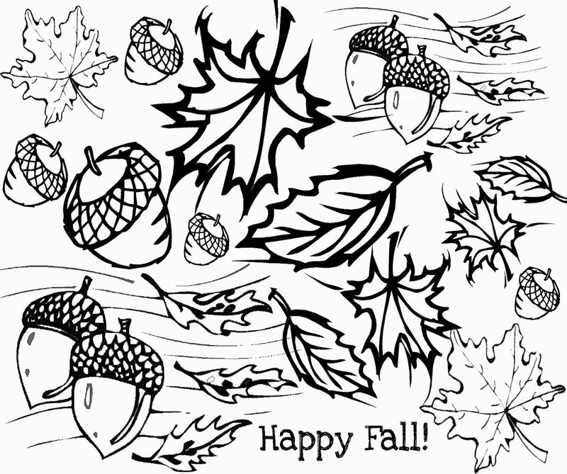 Happy Fall Printable To Color