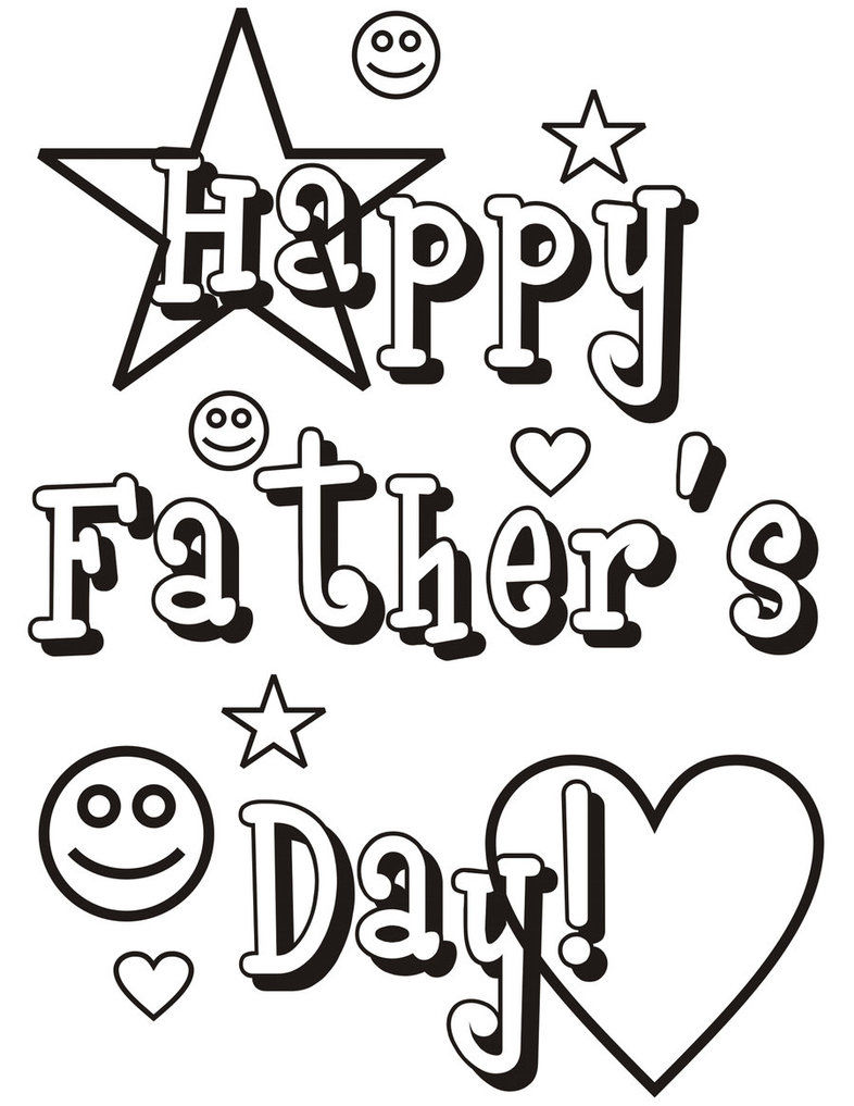 Happy Fathers Day Coloring Pages 001