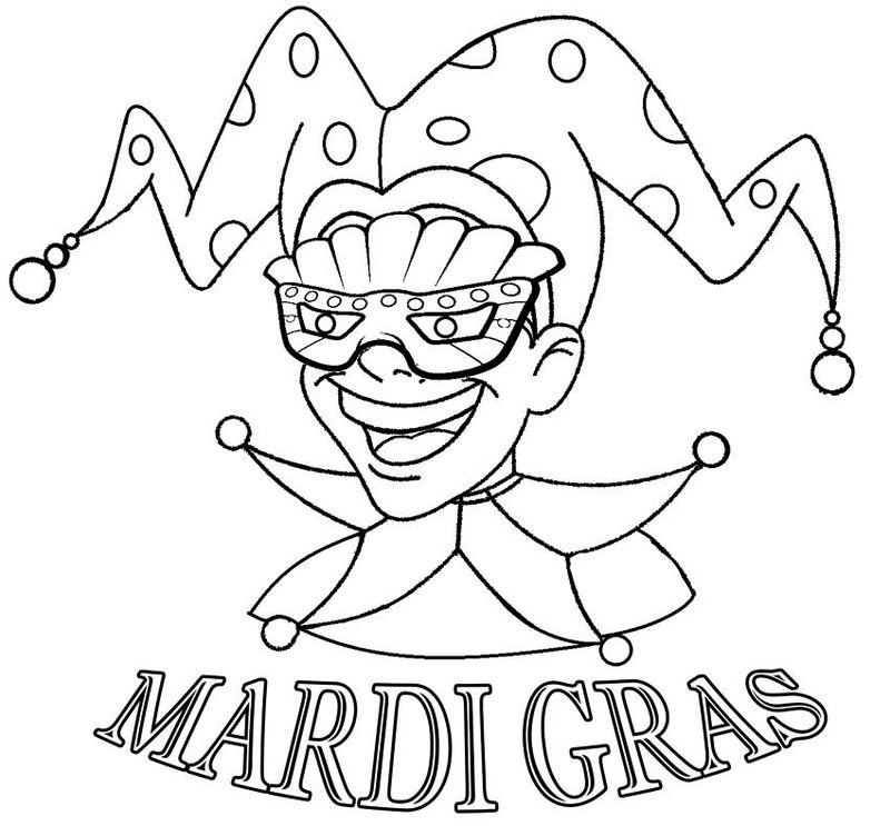 Happy Mardi Gras Coloring Pages