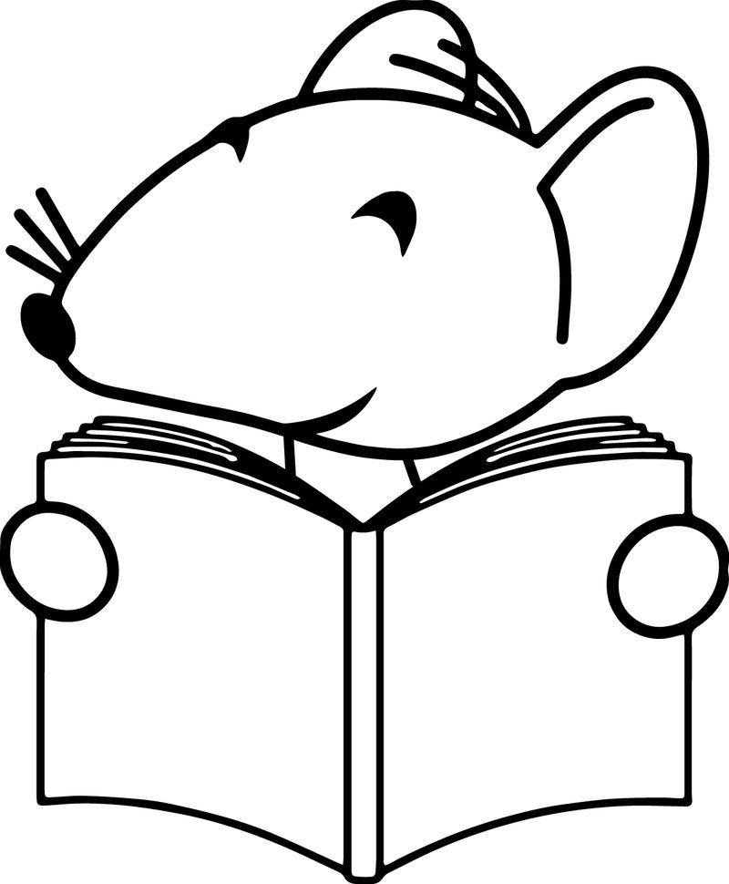 Happy Mouse Coloring Page