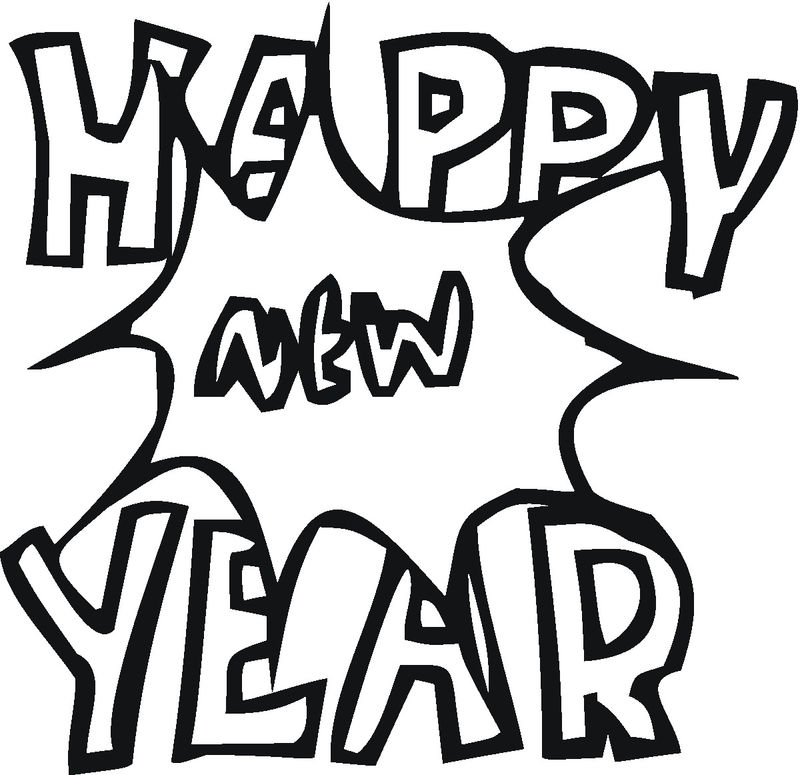 Happy New Year Coloring Pages To Print