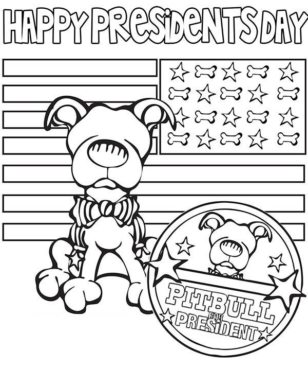 Happy presidents day coloring page