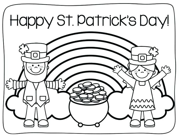 Happy St Patricks Day Coloring Page 2