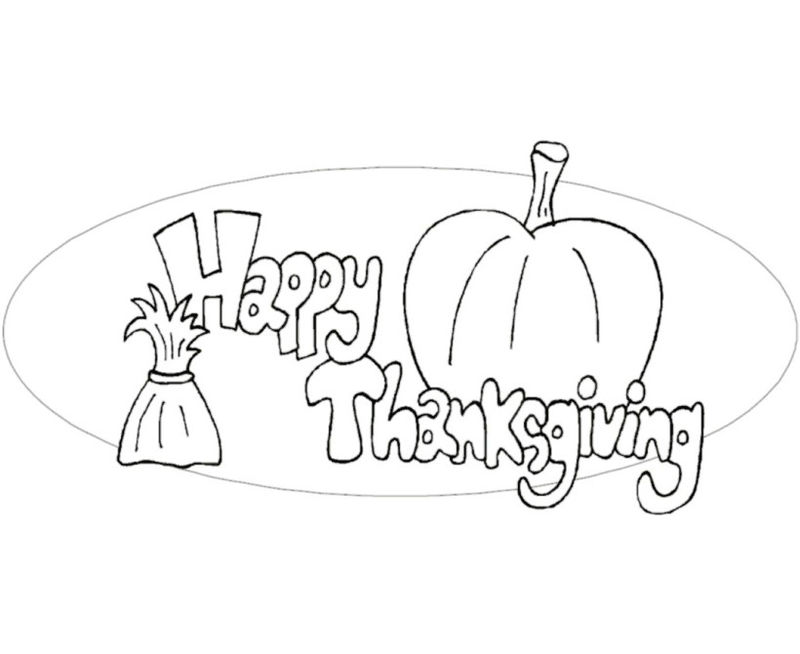 Happy Thanksgiving Coloring Pages To Print