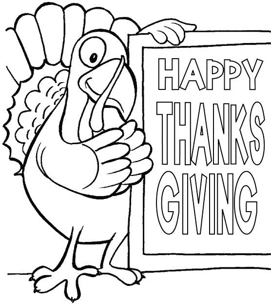 Happy Thanksgiving Coloring Sheets