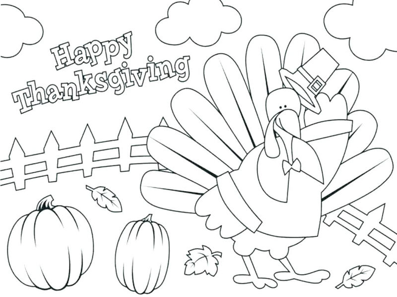 Happy Thanksgiving November Coloring Pages