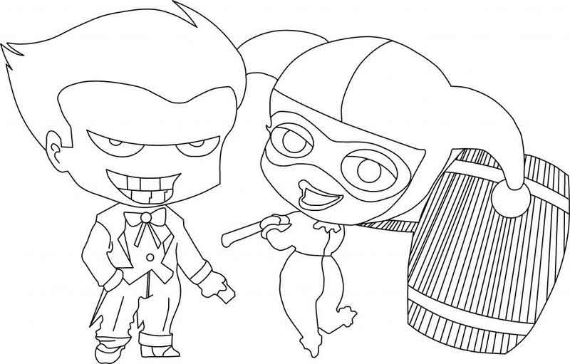 Harley Quinn Coloring Pages With Joker