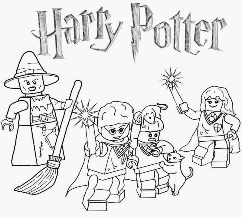 Harry Potter Lego Lego Coloring Pages