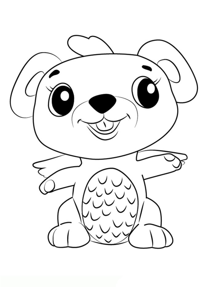 Hatchimals Coloring Pages Dog