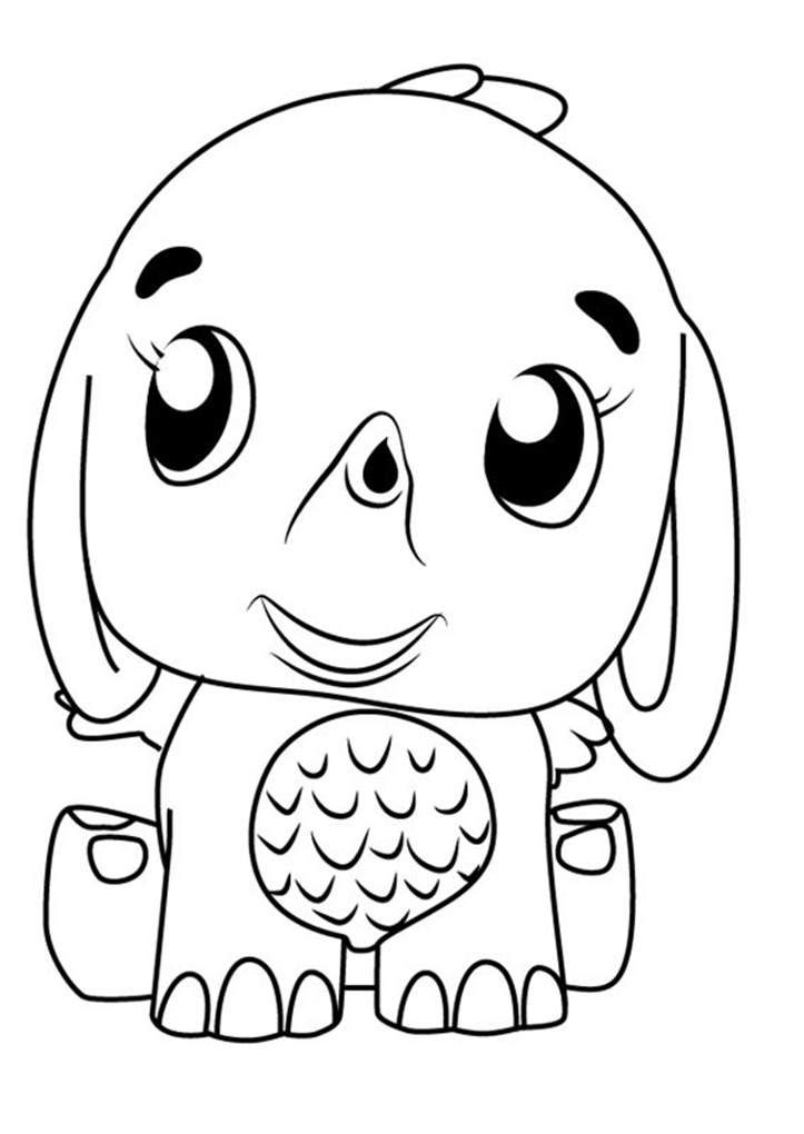Hatchimals Coloring Pages Elephant