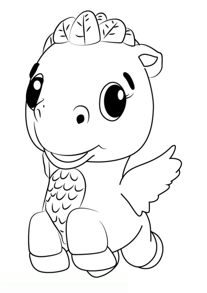 Hatchimals Coloring Pages Horse