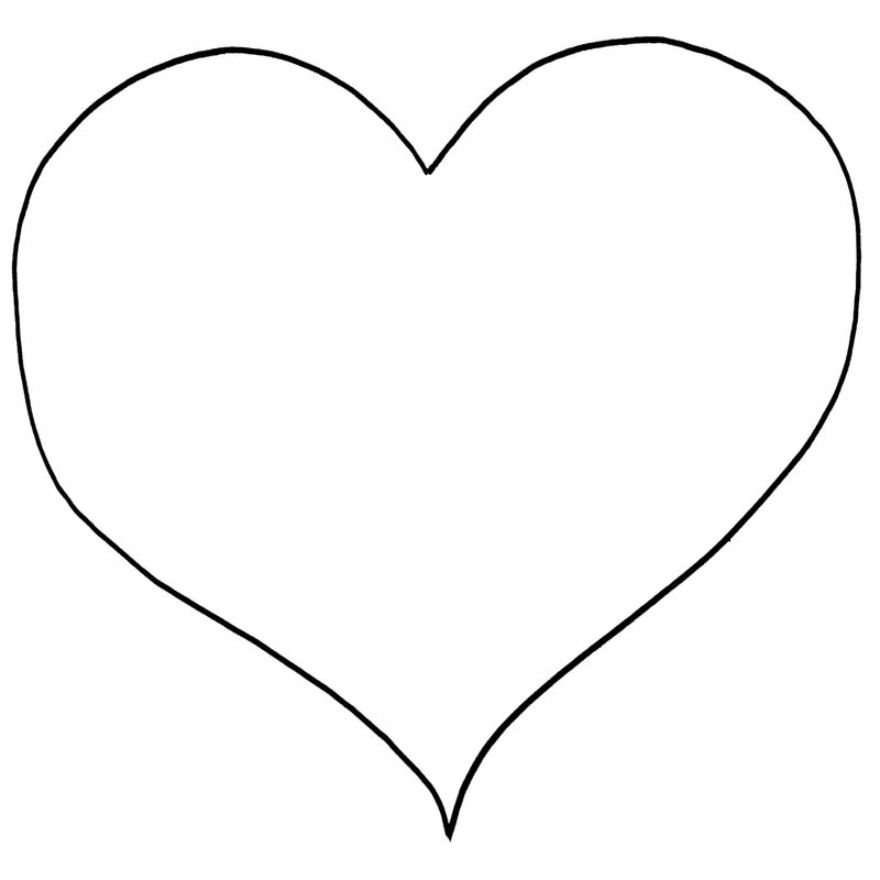 Heart Shape Coloring Page1