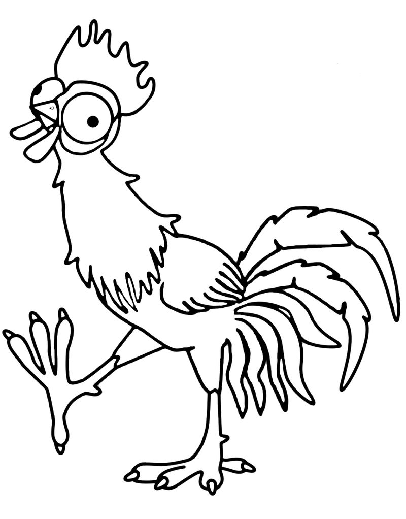 Hei Hei Chicken Coloring Page