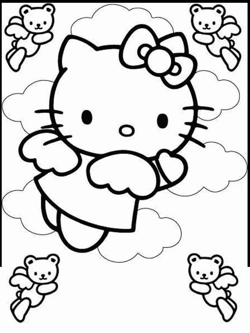 Hello Kitty Pictures Coloring Pages