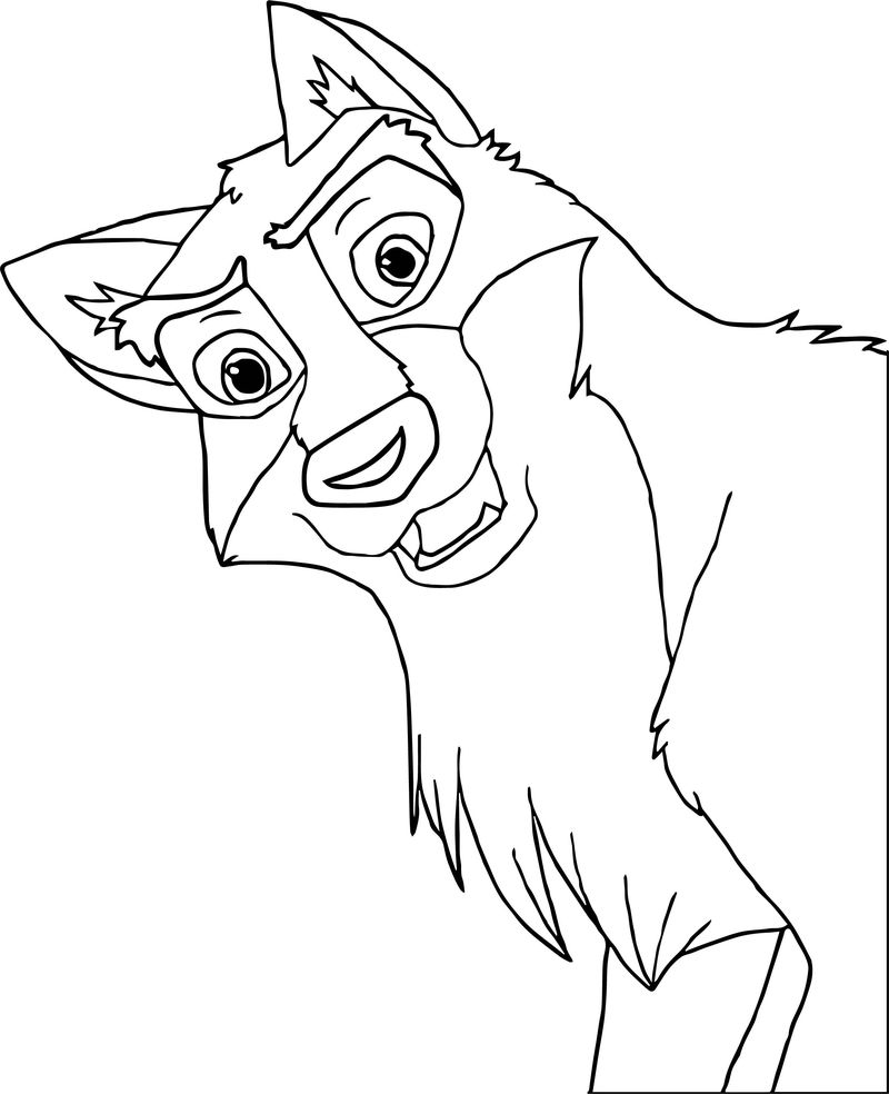 Hey Balto Wolf Coloring Page